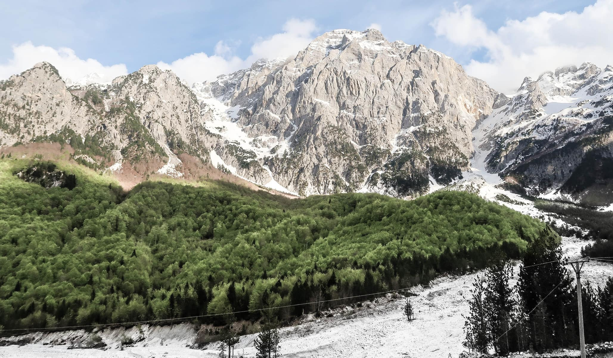Góry w Valbone, Albańskie Alpy