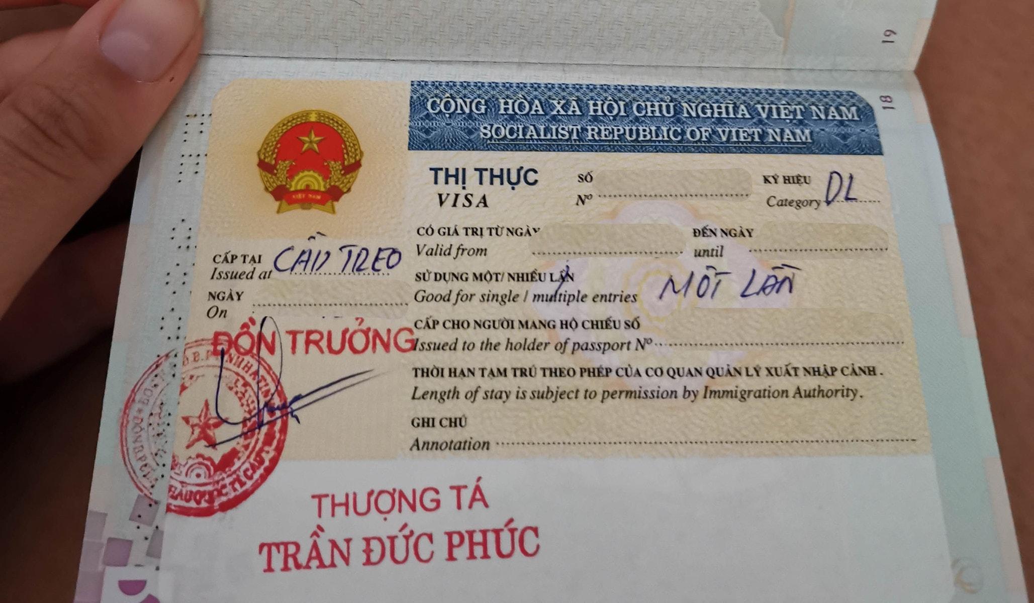 problem with e-visa to Vietnam
