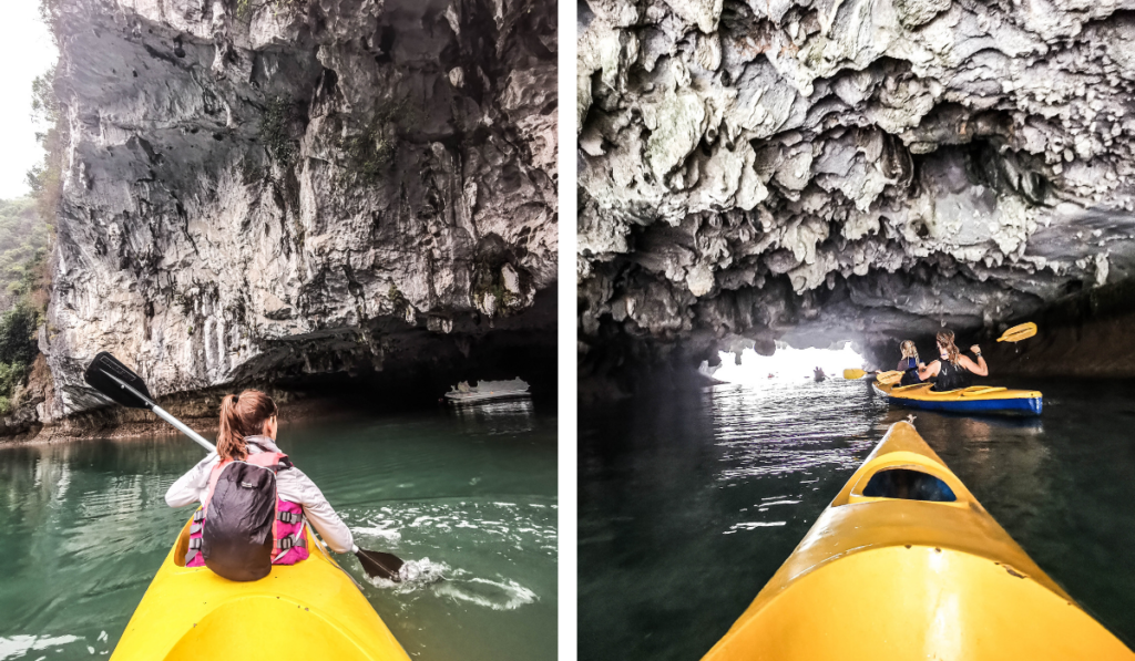 caves in Ha Long Bay