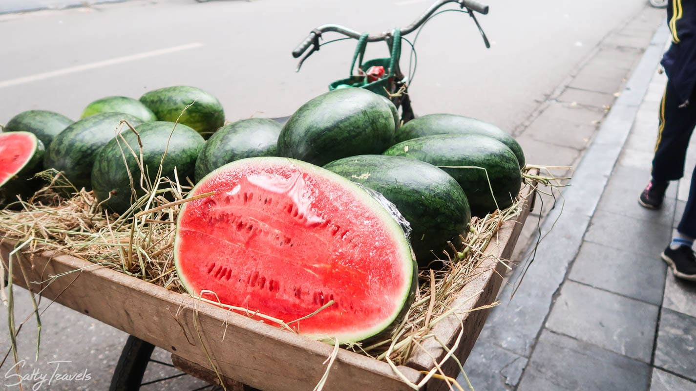 Arbuzy w Hanoi, Wietnam