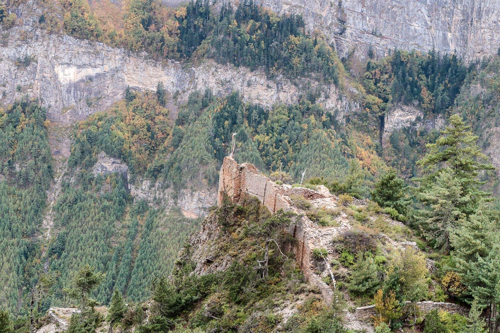 ruiny Ghale Dzong Nepal