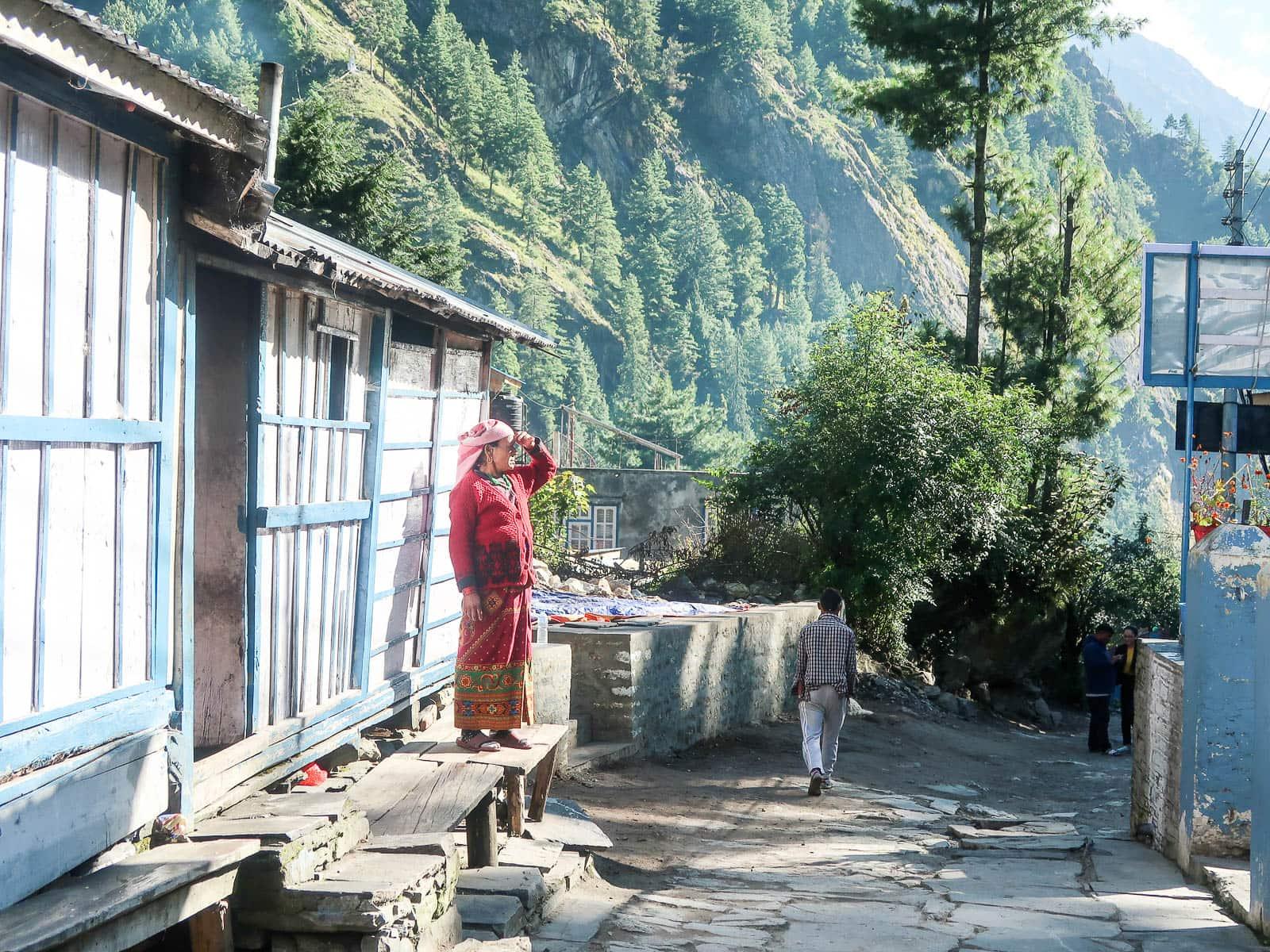 wioska Chame w Nepalu
