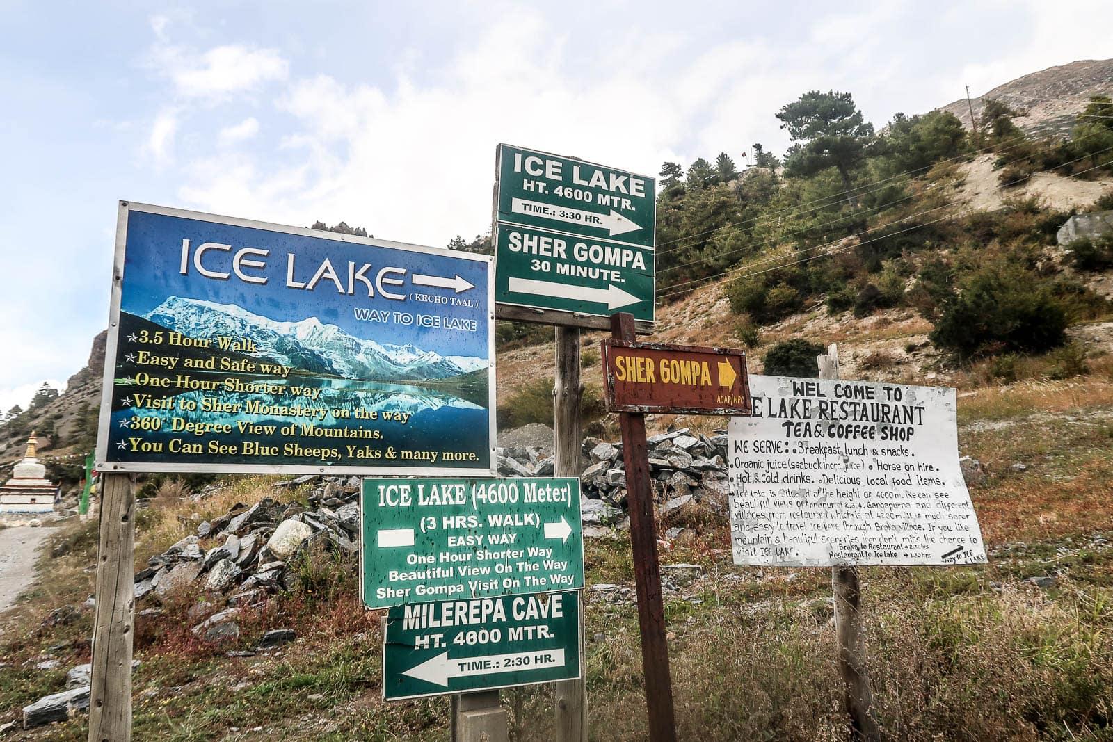 Ice Lake Annapurna Circuit