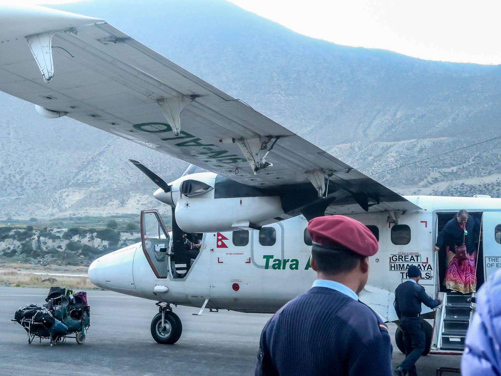 Samolotem z Jomsom do Pokhara