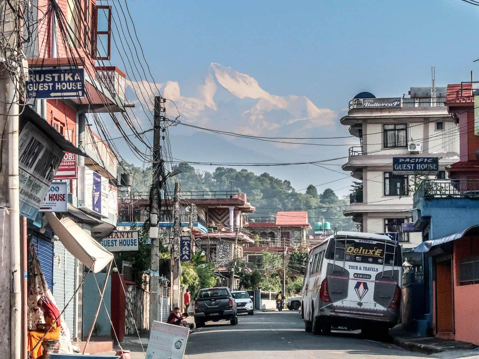 widoki w Pokhara, Nepal