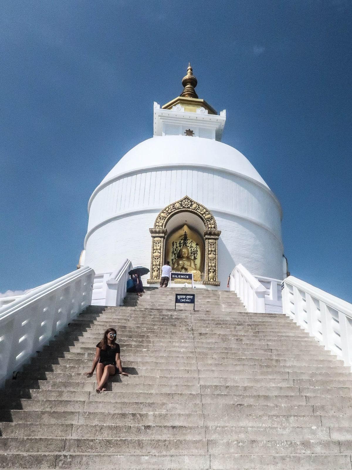 Pokhara World Peace Pagoda, Nepal