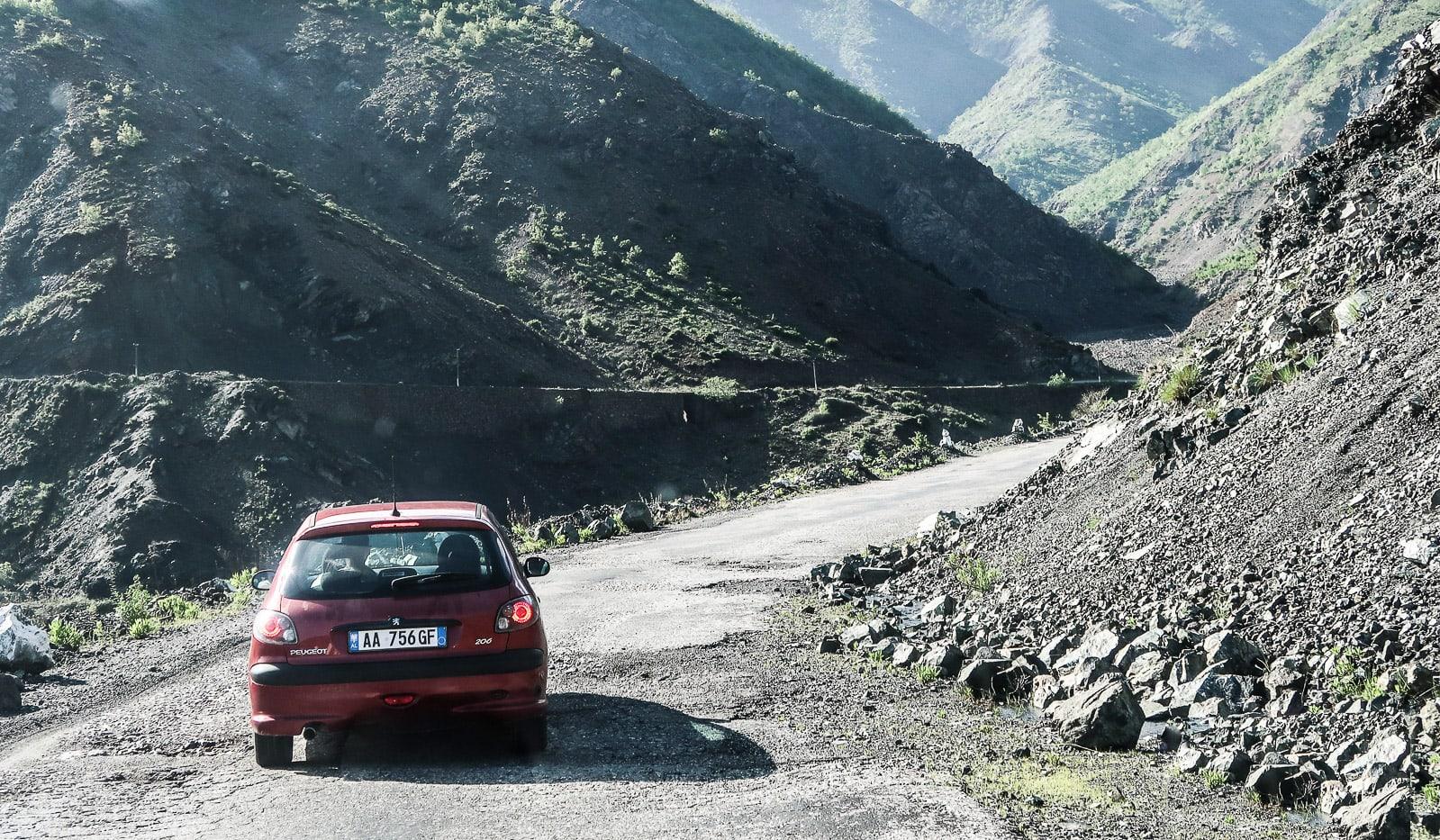 podróż samochodem do Albanii