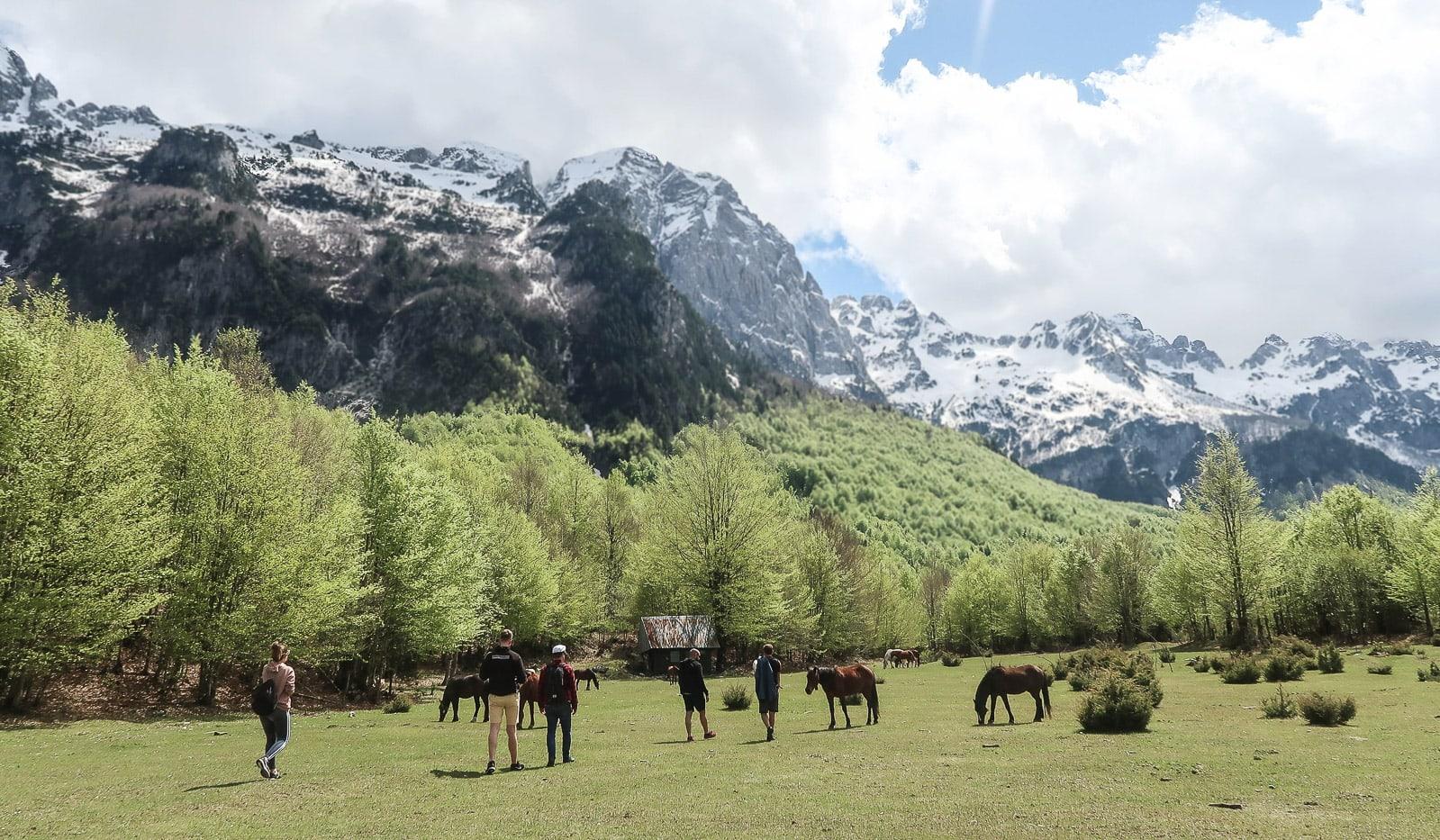 Valbone, Albania z namiotem