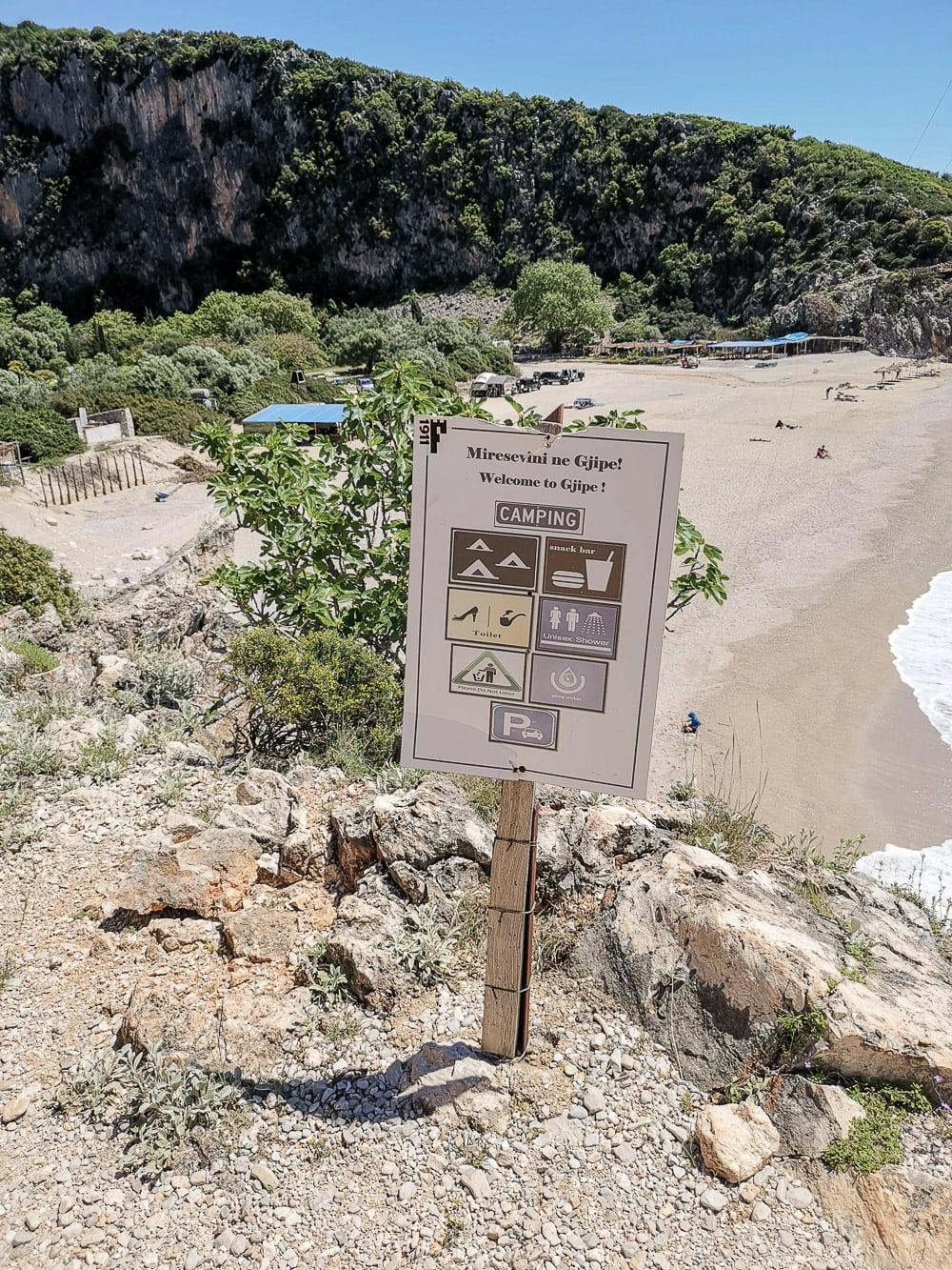 Plaża Gjipe, Albania