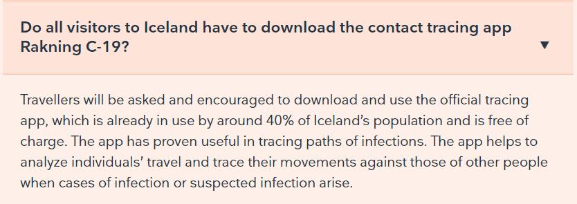Aplikacja Rakning C-19 na Islandii