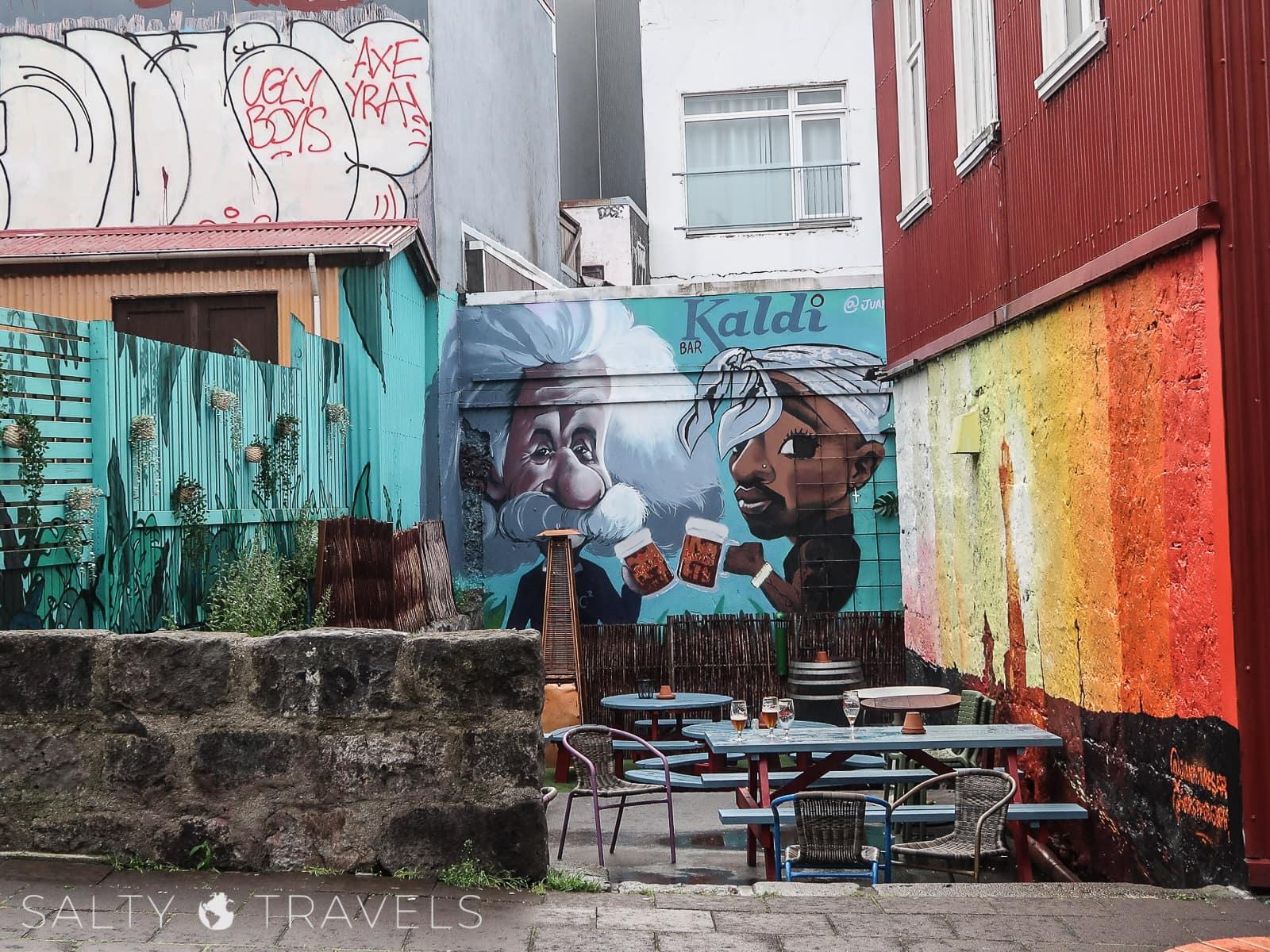 zwiedzanie Reykjaviku - murale