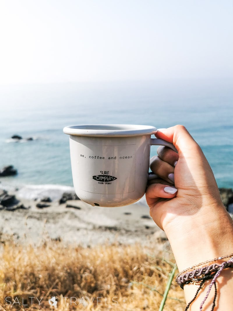 me coffee and ocean