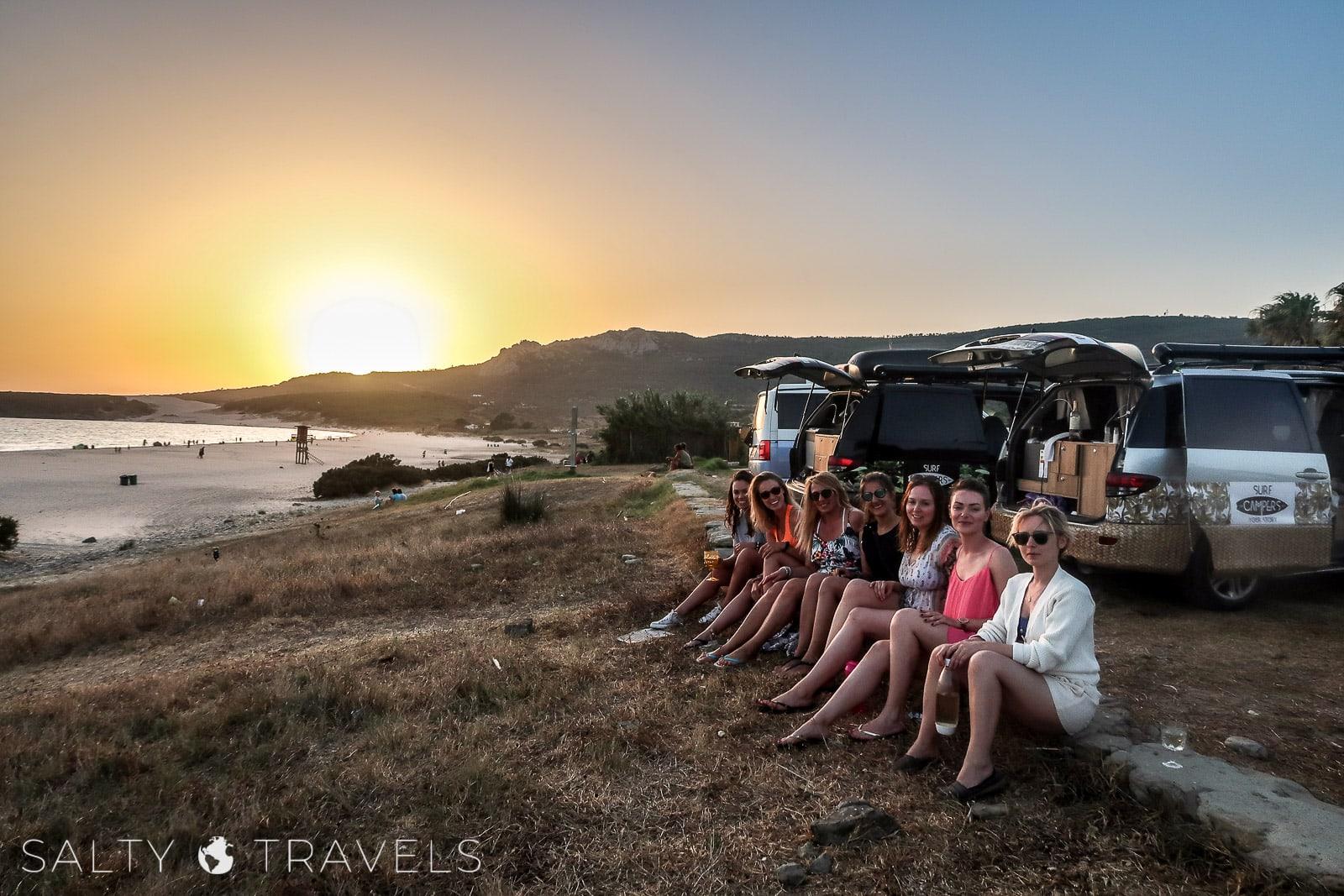 babski trip kamperem w Hiszpanii